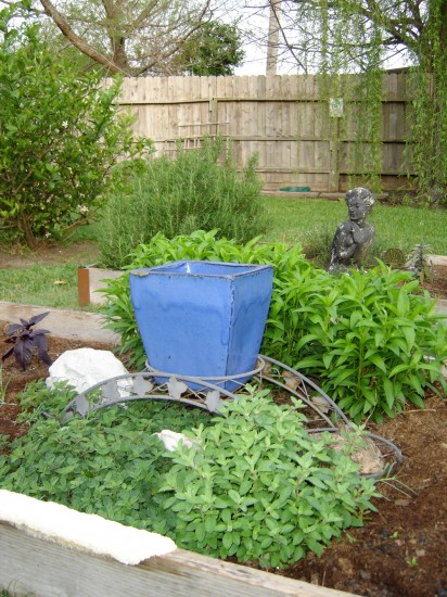 Back yard herb beds